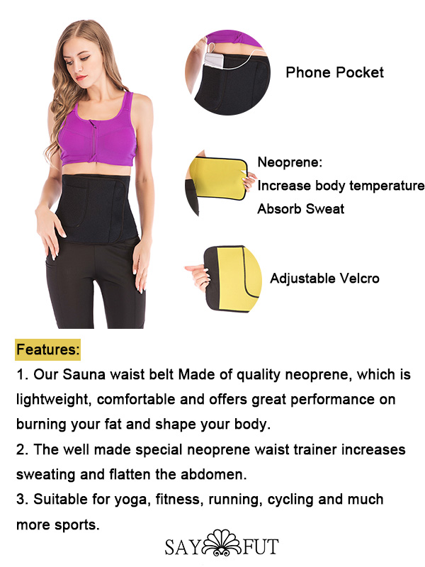 Hot Neoprene Sauna Sweat Slimming Belt Waist Trimmer(1)