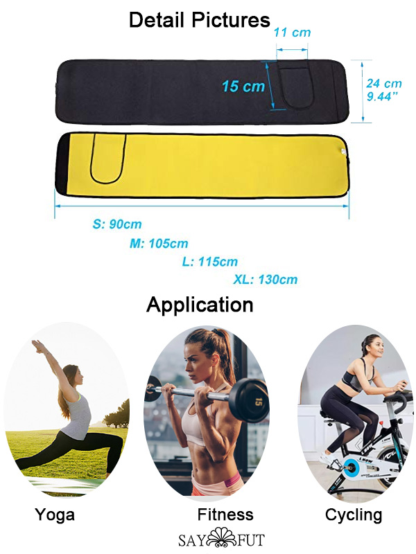 Hot Neoprene Sauna Sweat Slimming Belt Waist Trimmer(2)