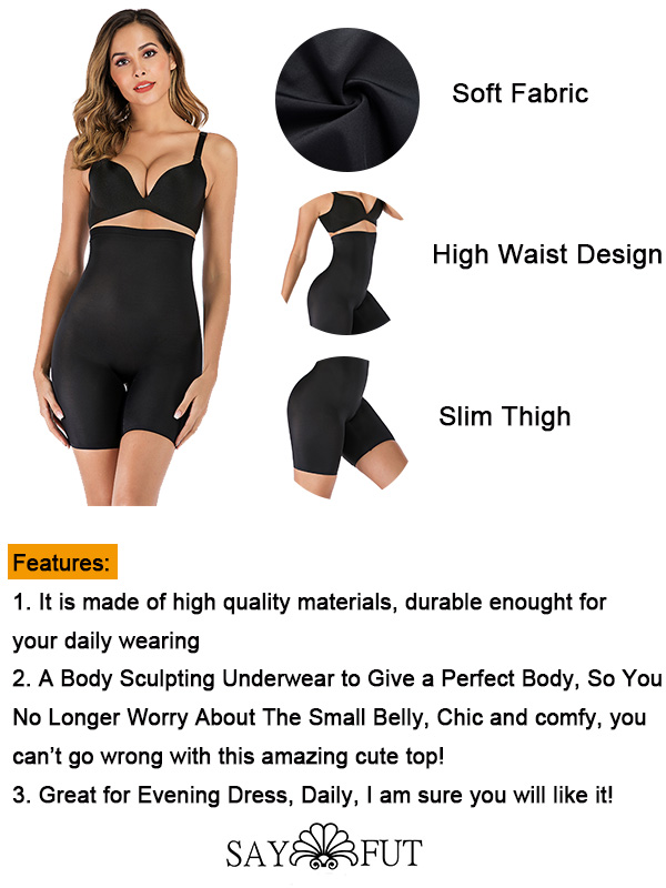 High Waist Tummy Control Seamless Panties(1)